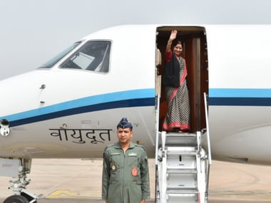External affairs minister Sushma Swaraj on a 7-day trip to Europe to solidify bilateral ties. Twitter/@MEAIndia