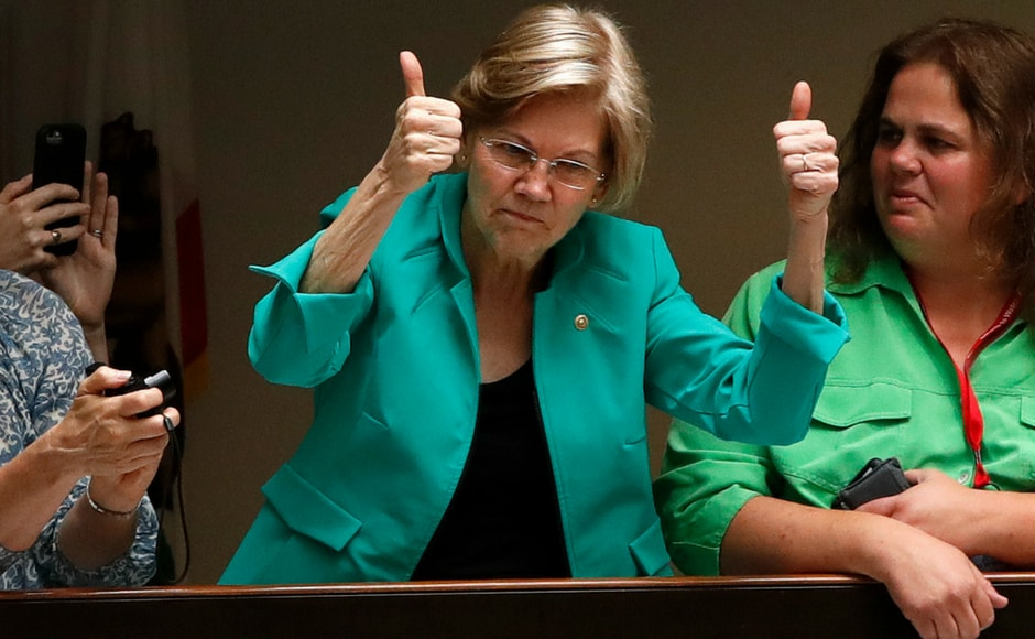 Elizabeth Warren, Senator of Massachusetts also showed her support to the rally protesting against the separation of immigrant families. AP