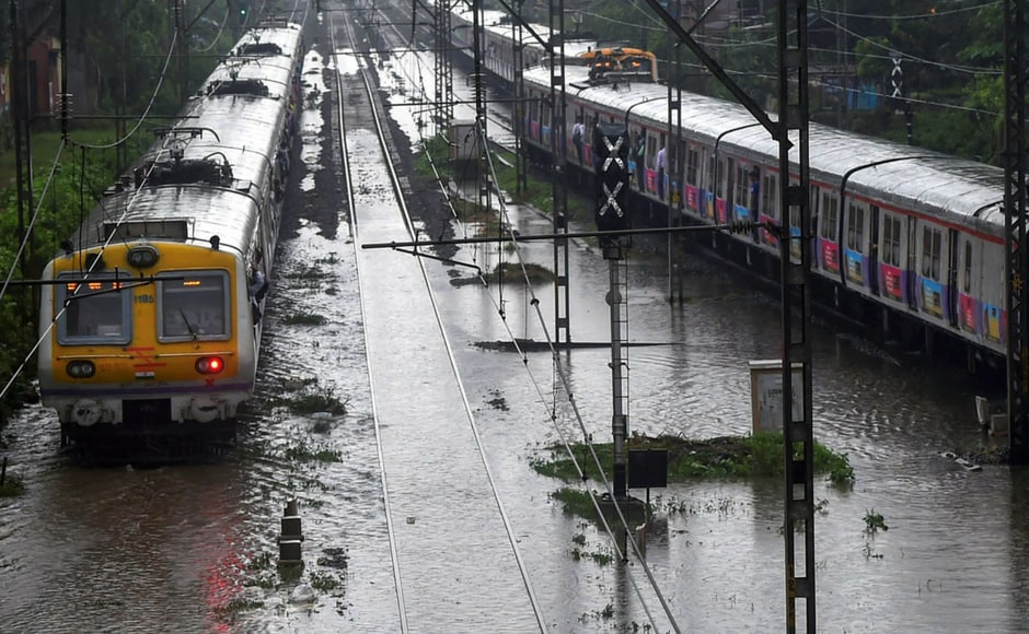 As the southwest monsoon picked up momentum in Mumbai bringing heavy showers, BMC workers and NDRF officials were on high alert. Local train services of the Central Railway (CR), Western Railway (WR) and on the Harbour Line corridor were running late by 5 to 10 minutes, officials said. PTI
