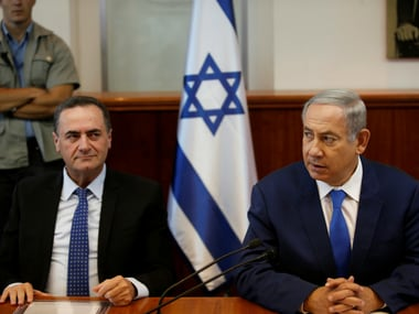 Israel Prime Minister Benjamin Netanyahu and Transport and Intellicence Minister Yisrael Katz. Reuters