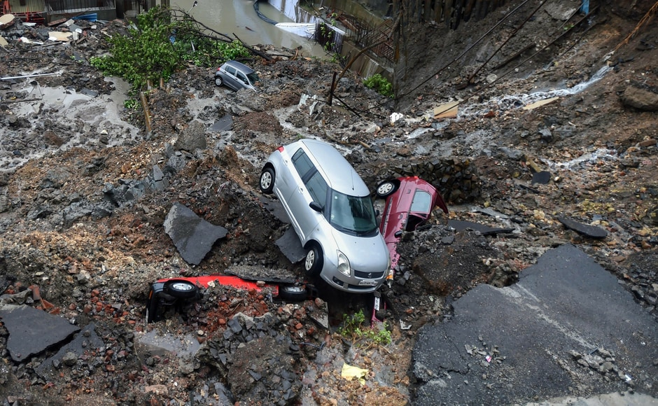On Monday morning, a huge part of a compound caved in at Antop Hill area in Wadala. Around 15 cars were damaged with some vehicles getting buried under the debris. A 37-year-old woman was critically injured in the process. PTI