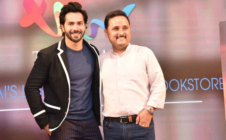 Varun Dhawan unveiled the cover of Amish's latest book – <em>Suheldev and The Battle of Bahraich</em> at Title Waves on 12 June