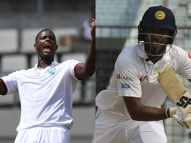 File image of Windies captain Jason Holder (L) and Sri Lanka captain. AFP