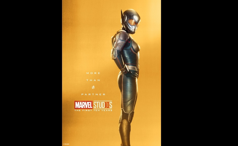 Evangeline Lilly as the Wasp. Twitter@MarvelStudios