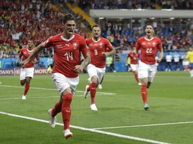Switzerland's Zuber equalised for his side just after half time. AP