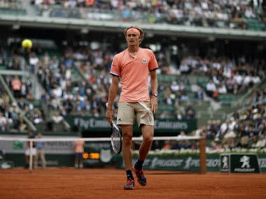 Germany's Alexander Zverev at the French Open in Paris. AP