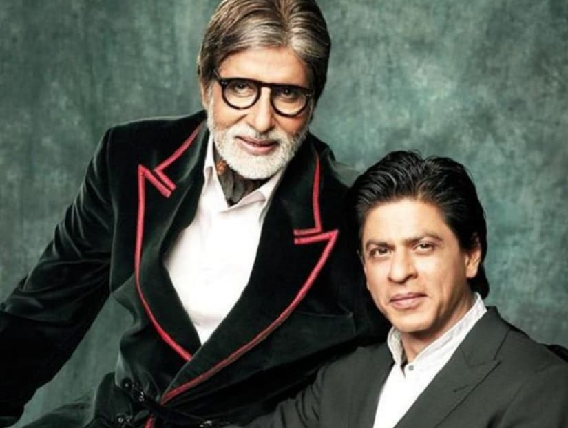 Amitabh Bachchan and Shah Rukh Khan. Image from Twitter/@BOCapsule