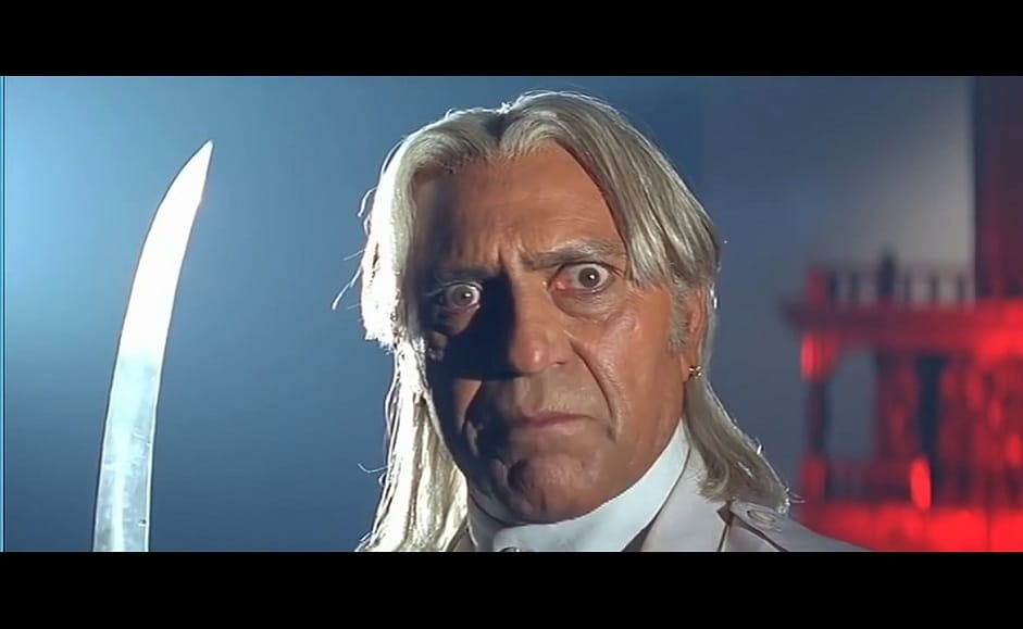Amrish Puri in Koyla. Image from YouTube