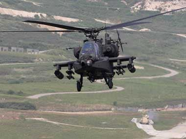 An AH-64 Apache helicopter. Reuters