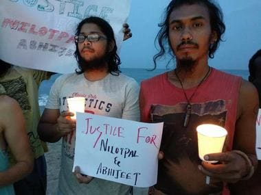 Assam. Protests seeking justice for Nilotpal and Abhijeet Das. Twitter/@News18Northeast