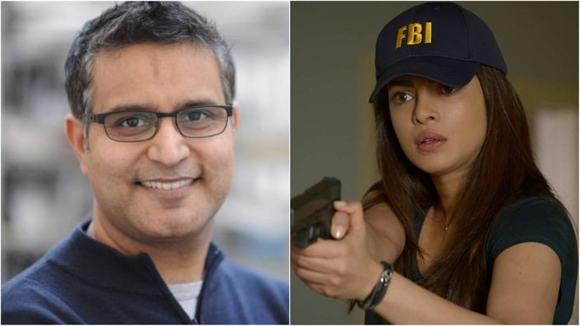 Atul Kochhar (L); Priyanka Chopra in a still from Quantico (R). Images via Twitter