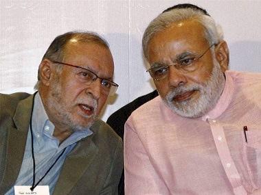 File image of Delhi L-G Anil Baijal and Prime Minister Narendra Modi. PTI.