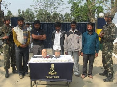 Army officials apprehended 5 MULTA cadres from the Gauripur area in Dhubri District of Assam. Image: Rajeev Bhattacharya