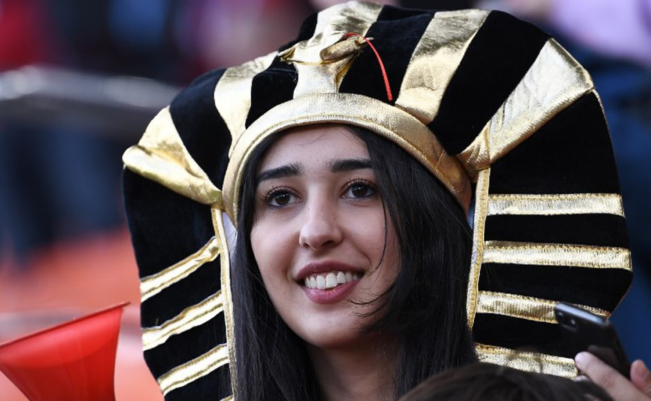 Egypt fans are seen ahead of kick off of the Russia 2018 World Cup Group A football match between Egypt and Uruguay at the Ekaterinburg Arena in Yekaterinburg on 15 June, 2018. AFP