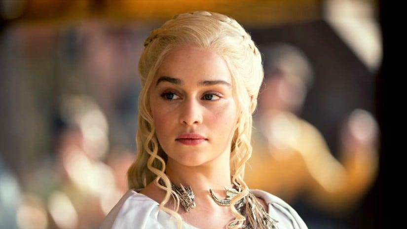 Emilia Clarke as Daenerys Targaryen. hbo.com