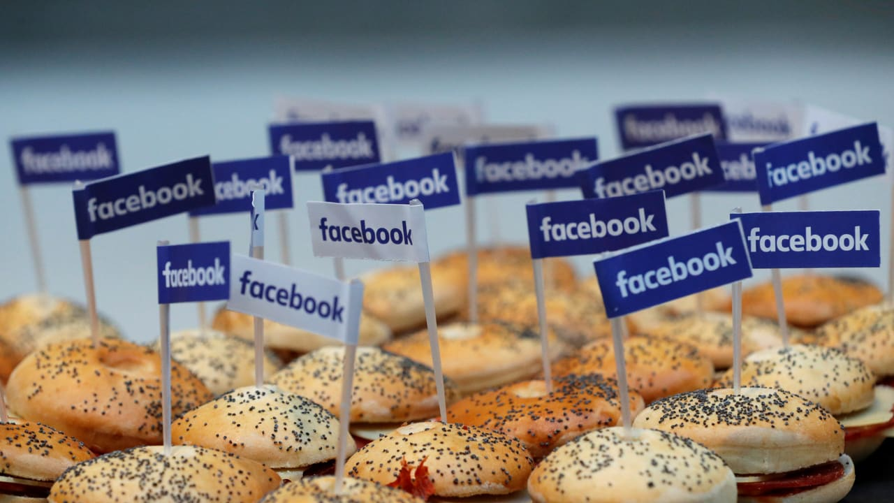 Miniature Facebook banners. Image: Reuters