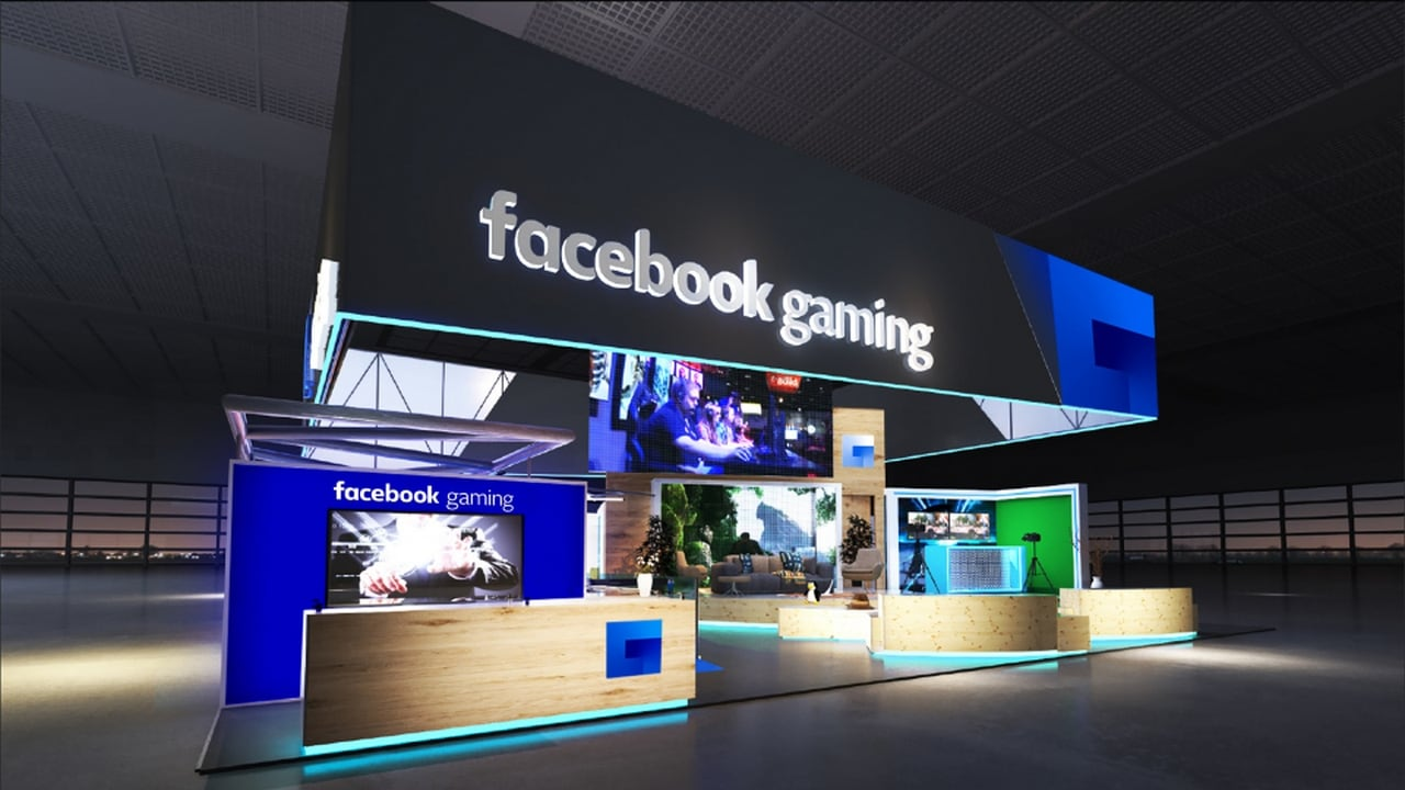 A render of how the facebook booth at E3 is expected to look. Image: Facebook