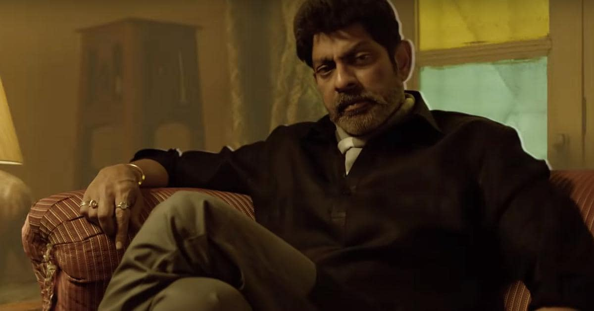 Jagapathi Babu in a still from Gangstars. Amazon Prime Video India