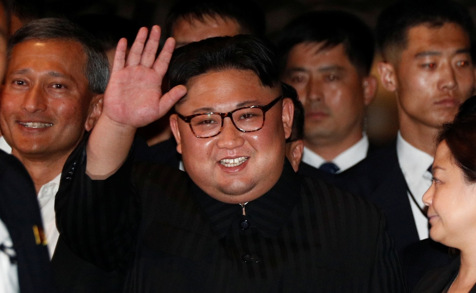 Earlier, upon his arrival in Singapore on Monday, Kim Jong-un greeted the media at The Marina Bay Sands hotel. Reuters