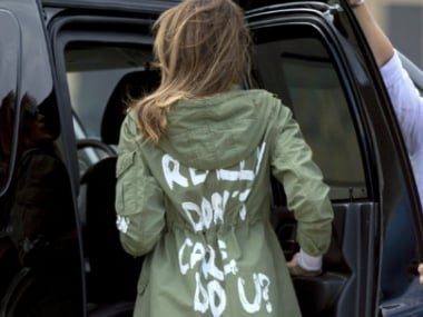 'I really don't care, do you?': Melania Trump sparks controversy after wearing insensitive jacket to migrant children camp in Texas