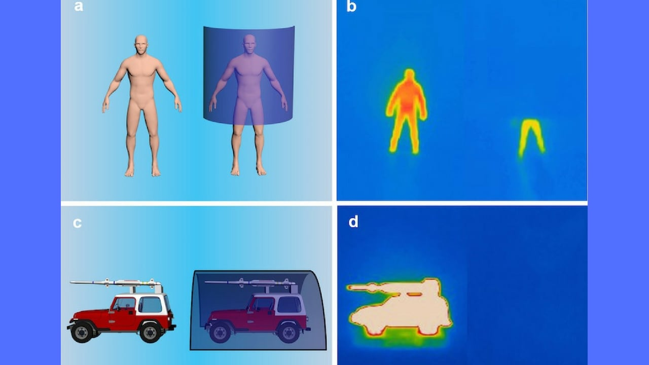 A new stealth sheet helps objects that emit heat to hide from infrared cameras