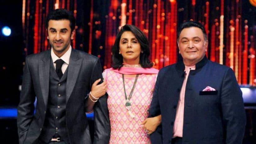 Rishi Kapoor, Neetu Kapoor and Rishi Kapoor