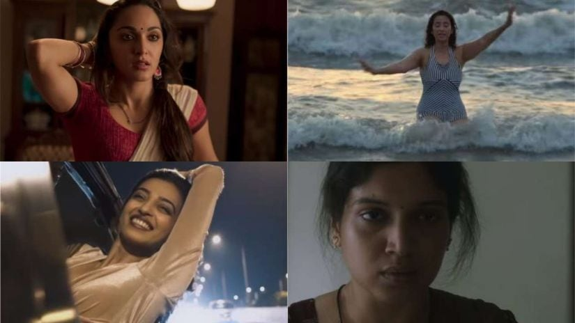 Kiara Advani, Manisha Koirala, Radhika Apte and Bhumi Pednekar in stills from Lust Stories