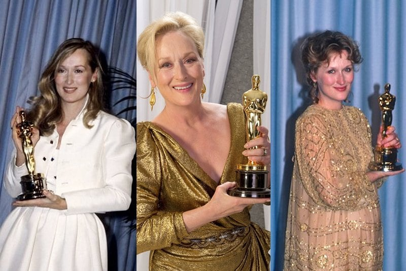 Meryl Streep has won the Academy Awards for Sophie's Choice, The Iron Lady and Kramer vs Kramer. Twitter/@IanWilliam1987
