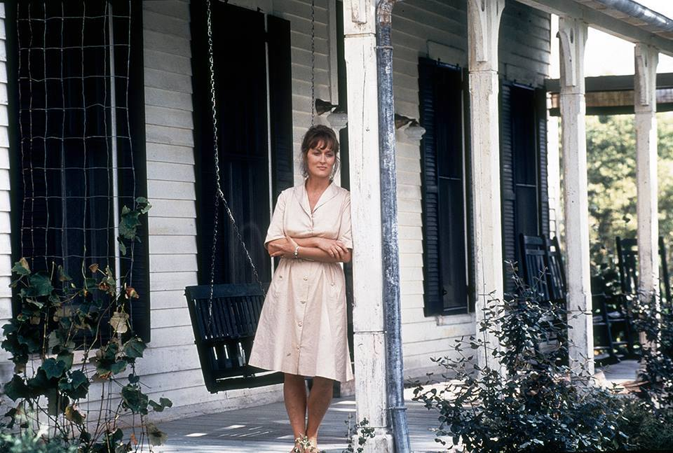 Meryl Streep as Francesca Johnson in Bridges of Madison County, the screen adaptation of the best-selling novel of the same name . Facebook/@TheBridgesofMadisonCounty