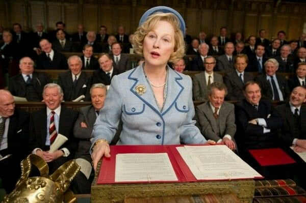Meryl Streep plays Margaret Thatcher in The Iron Lady, the British-French biographical drama based on the stateswoman. Image from Twitter