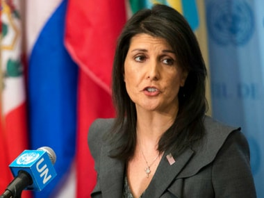 File image of US Ambassador to the United Nations Nikki Haley. AP