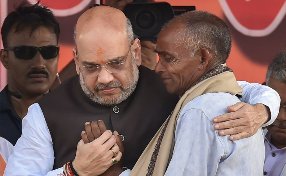 "Amit Shah meets with the family members of Trilochan Mahato and Dulal Kumar, who were killed after the panchayat election, in Purulia district of West Bengal on Thursday. Speaking about the recent political killings in Bengal, Shah said that violence was not in the culture of the state. ""More than 65 BJP workers were killed in the violence in Bengal and more than 1,341 workers were injured. Bengal once revelled in the tunes of Rabindra Sangeet... but now, because of TMC goondas, the state has been drowned by sounds of the explosion from bombs lobbed by Mamata's supporters."" PTI"
