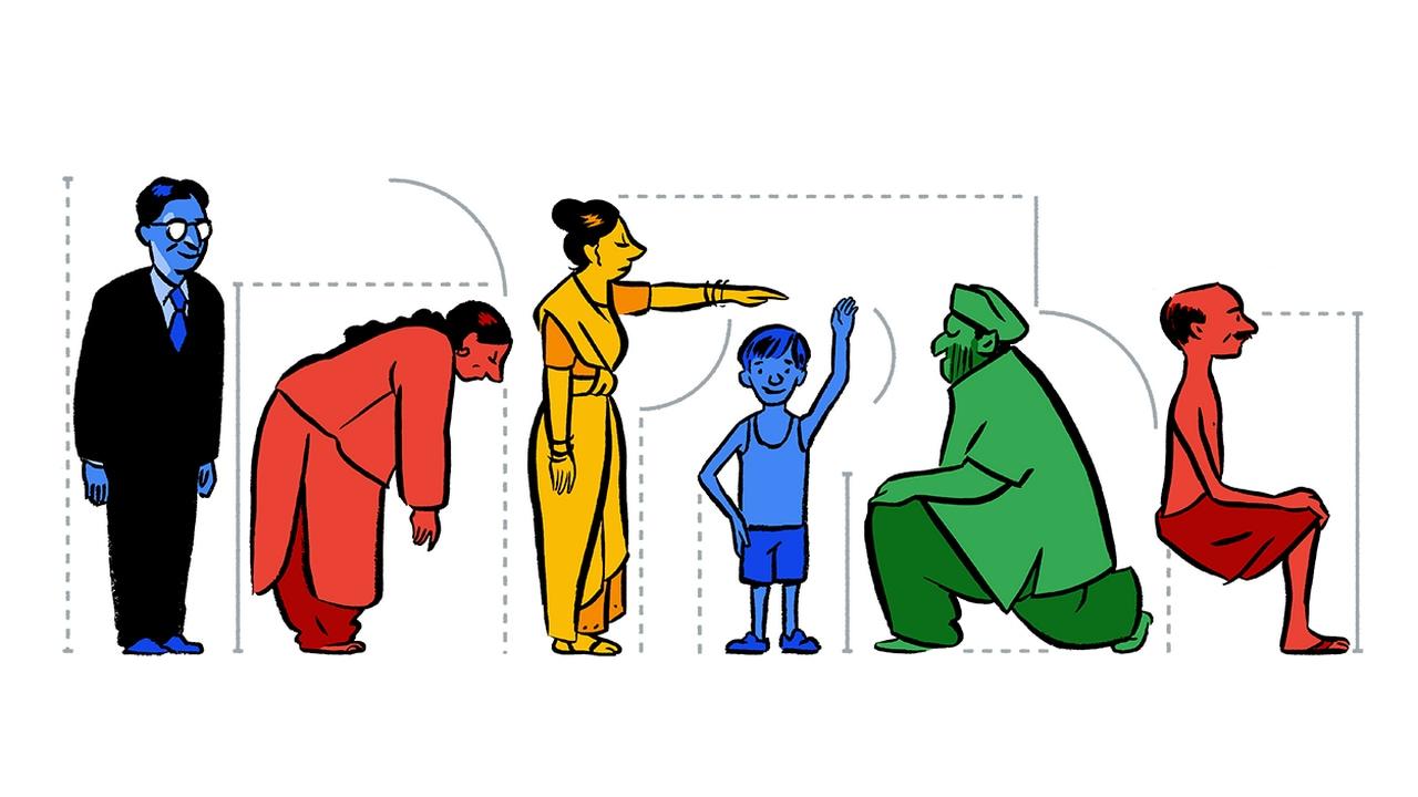 Google Doodle celebrating the birth anniversary of Prasanta Chandra Mahalanobis. Image: Google
