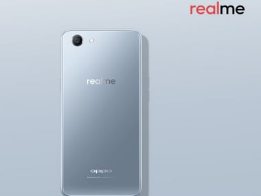 RealMe 1 in a limited edition moonlight silver colour variant. Image: Realme