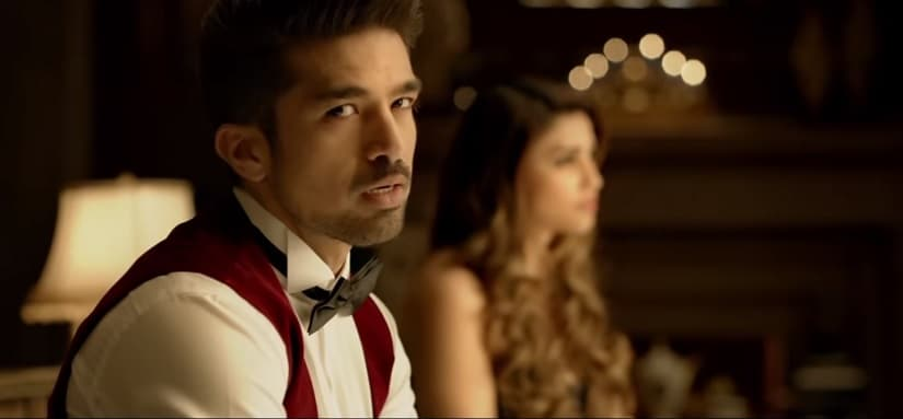 Saqib Saleem in a still from Race 3. YouTube