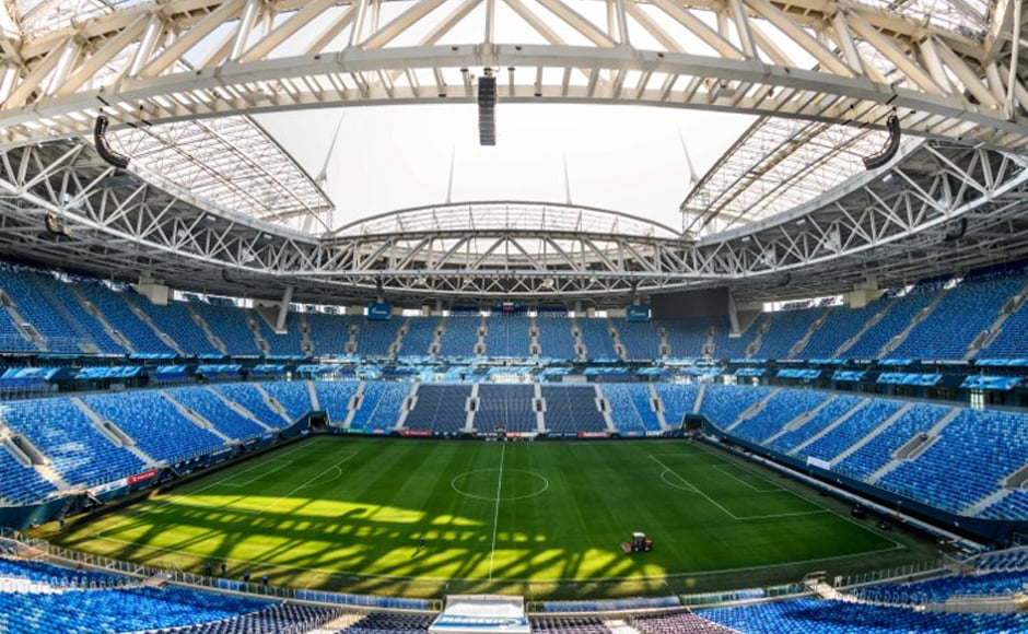 St. Petersburg Stadium: Almost everything that could go wrong did go wrong with the St Petersburg's Zenit Arena. After several delays and soaring costs hampered the project, which later became infamous for employing North Korean laborers in unhealthy environment. The spaceship-like arena — which will host a semifinal — remains plagued by a leaking roof and a pitch which had to be replaced repeatedly. AFP