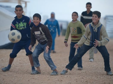 FIFA World Cup 2018: Displaced Syrians find relief in tent-side World Cup screenings