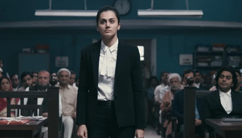 Taapsee Pannu in a still from Mulk. Screenshot from YouTube.