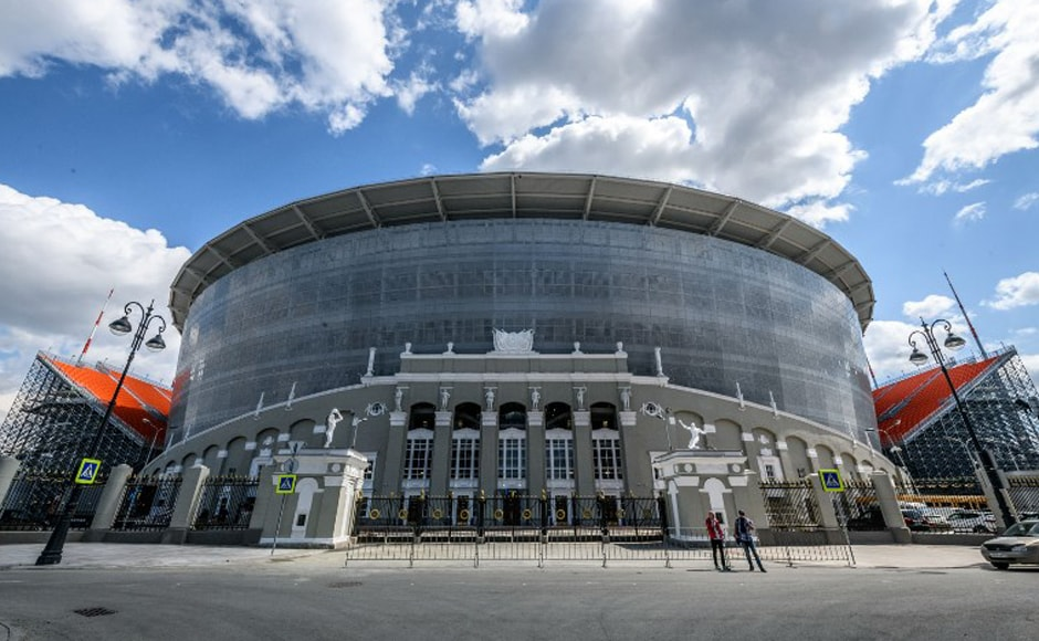 Ekaterinburg Arena: Even before it opened, the stadium in the Ural mountain city of Yekaterinburg was famous for its unusual design. In an attempt to keep the costs down, the stadium is home to12,000 temporary seats. However, those seats are on vast towers of scaffolding over the walls of the main stadium, which could be vertigo-inducing experience for spectatorsseated in top row. AFP