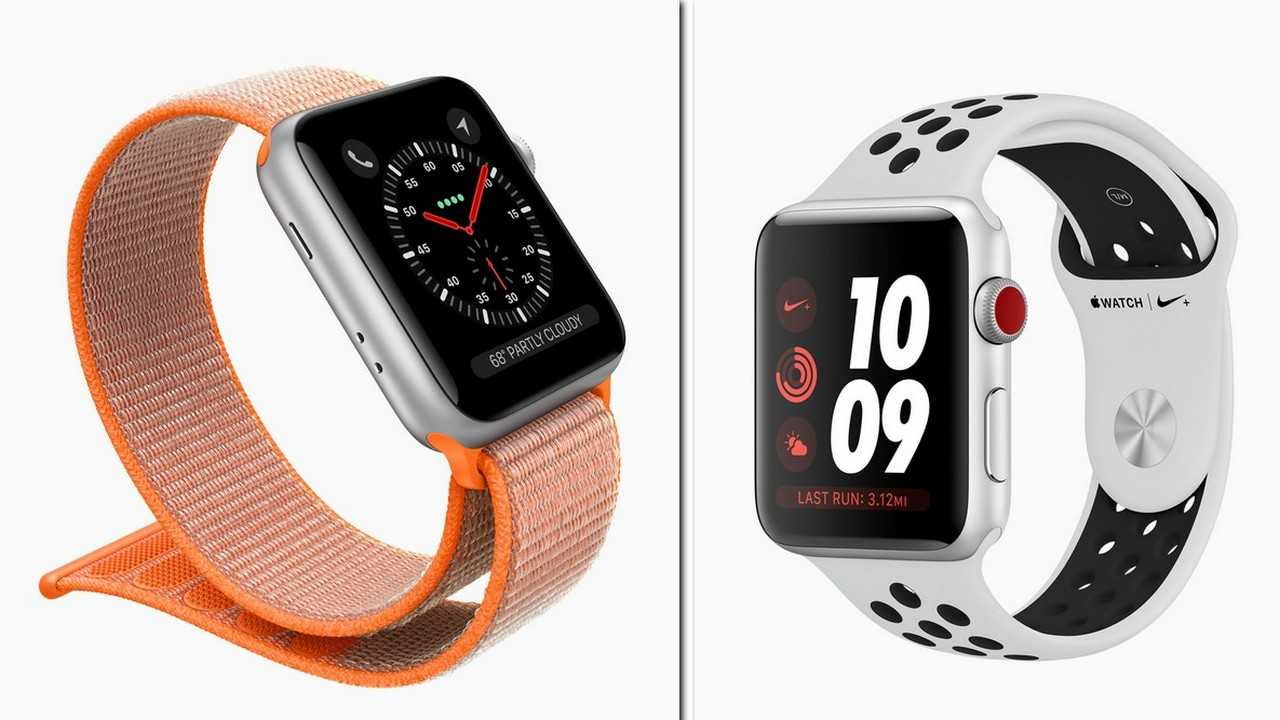 Apple Watch Series 3 Cellular with different watch bands. Image: Apple