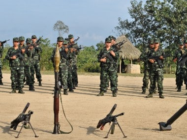 Cadres of NSCN(K)%2c PREPAK AND KYKL Ahead of Joint Parade in Myanmar%27s Taga (Credit - Rajeev Bhattacharyya)