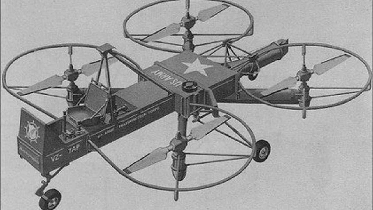 This was developed in response to an Army Transportation corp requirement for a 'flying jeep'. It had an extremely simple design, but it didn't meet up with the Army's altitude and speed requirements. Curtiss Wright VZ 7. Image: Aviastar