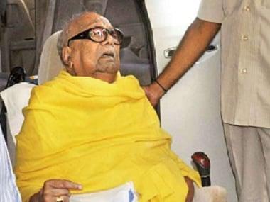 File image of DMK chief M Karunanidhi. PTI