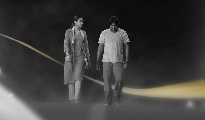 Trisha and Vijay Sethupathi in a still from Kaathalae Kaathalae. YouTube