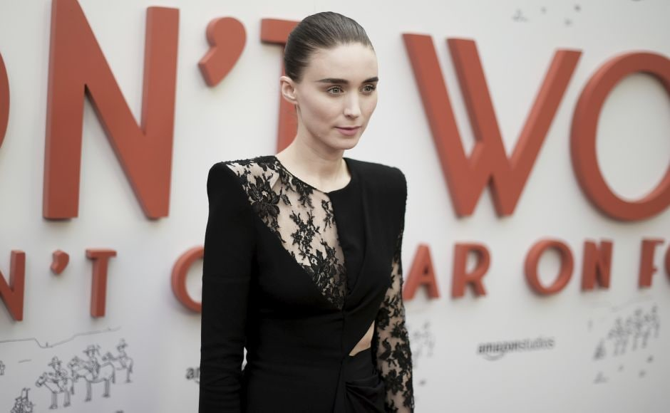 Rooney Mara attends the premiere of Don't Worry, He Won't Get Far on Foot in Los Angeles. Photo by Richard Shotwell/Invision/AP