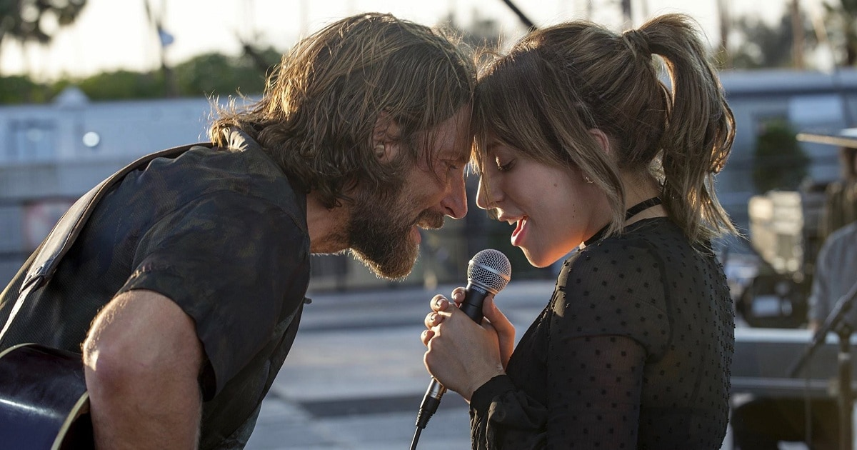 Bradley Cooper and Lady Gaga in a still from A Star Is Born. YouTube
