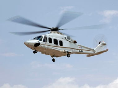 File image of an AgustaWestland helicopter. Reuters