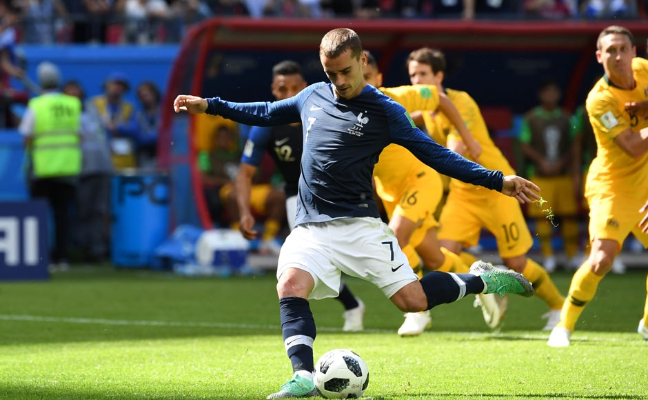 France got their World Cup campaign off to a positive start by beating Australia in their first group stage game. VAR was used to award France a penalty, with this being one of the first incidents at the world cup in which VAR's intervention was required. AFP