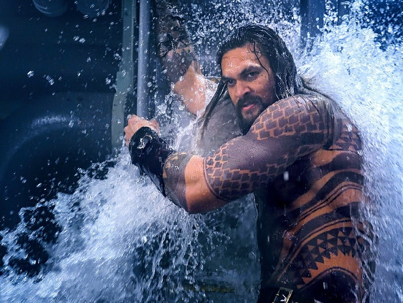 Jason Momoa as Aquaman in a still from the film. Image via Twitter