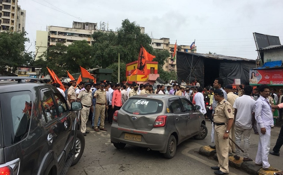 Large-scale violence the state-wide protest, with the death of a constable and nine other policemen injured amid suicide attempts by three agitators. Firstpost/Ashish Patil